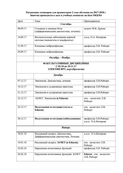 Расписание семинаров на 2017-2018 -4