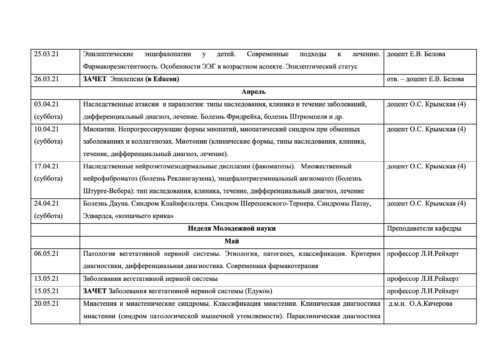 Расписание семинаров на 2020-2021г-12