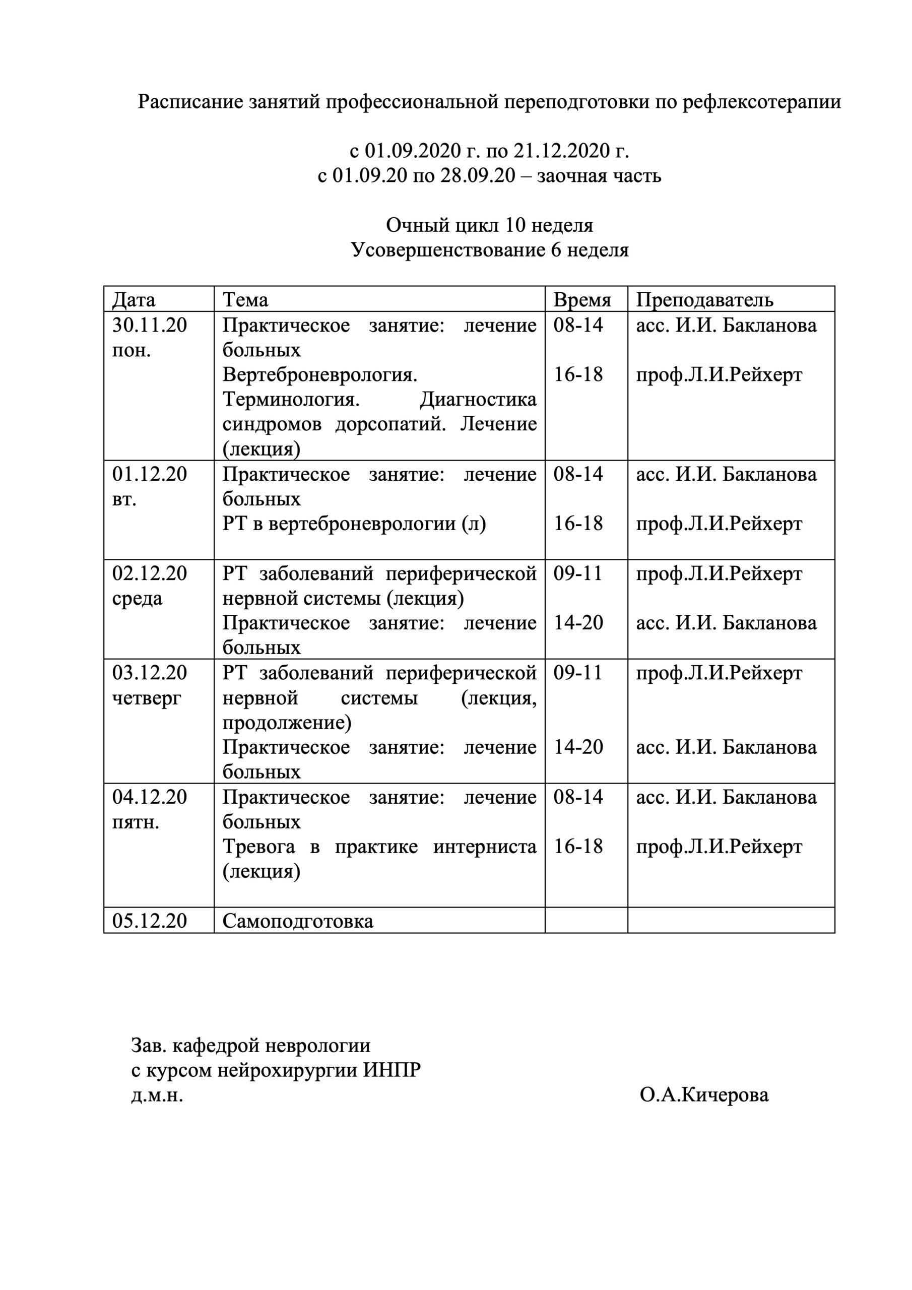 расписание РТ ППС 2020-10