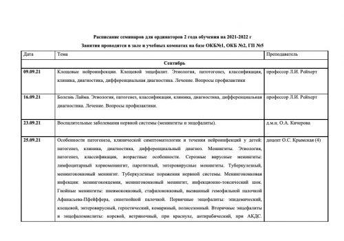 Расписание семинаров на 2021-2022 г-11