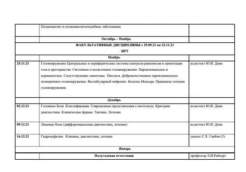 Расписание семинаров на 2021-2022 г-22